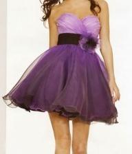 Purple Short Poofy Dress