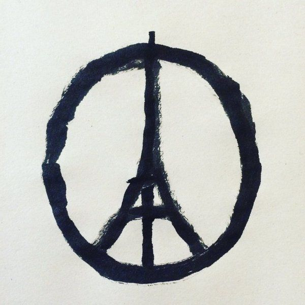 Peace for Paris 13 novembre 2015 by french graphic designer Jean Jullien