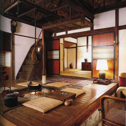 日本家屋、古民家、囲炉裏/Traditional Japanese hearth room