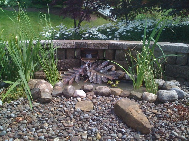 Copper Fountain Accent piece with small pond!