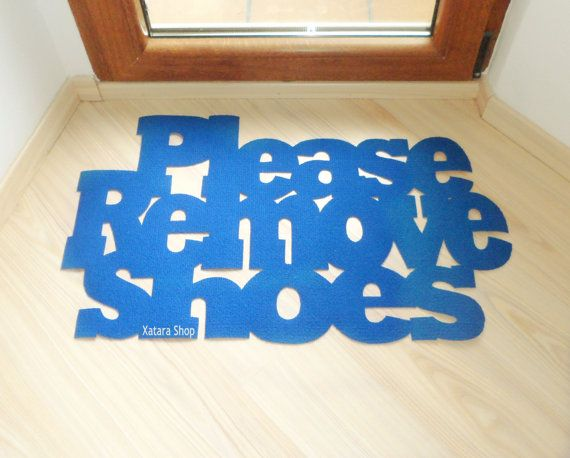 Please Remove Shoes Floor Mat. Exclusive By Xatara