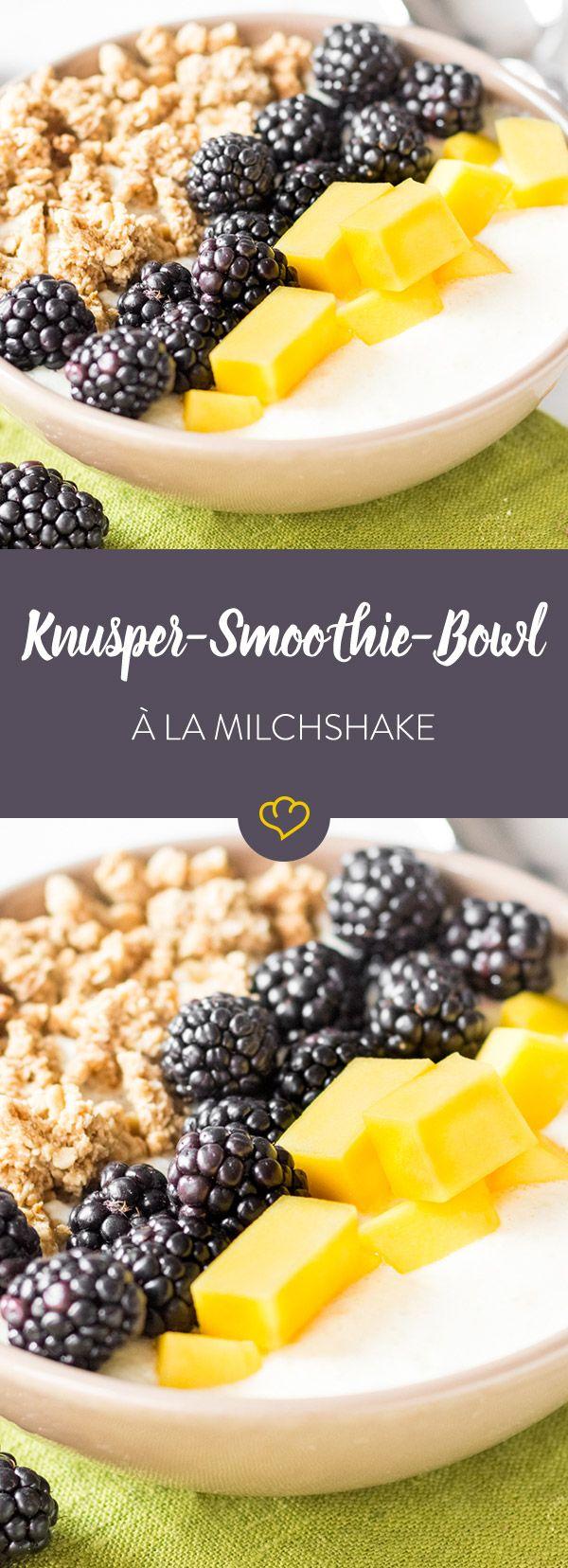 Besonders fruchtig, besonders gesund, besonders lecker - diese Smoothie Bowl schmeckt wie ein besonders feiner Milchshake.