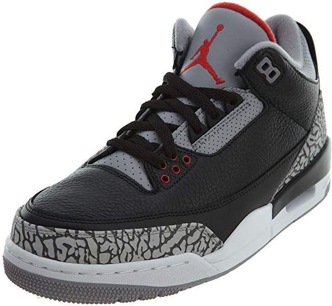 70679fb881e0e3 Amazon.com  Jordan Air 3 Retro OG Men s Basketball Shoes Black Fire  Red Cement Grey 854262-001 (10.5 D(M) US)  Shoes