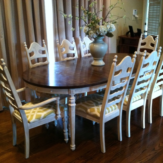 Painted Old Dining Room Set For A Fresh New Look Using