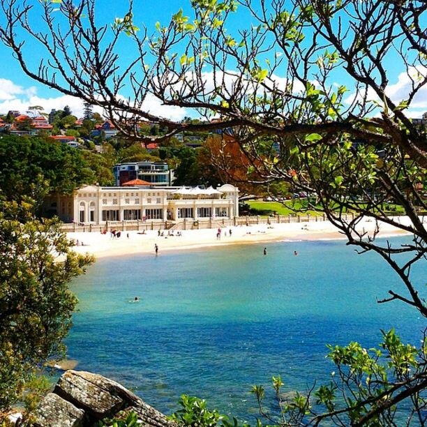 The Bathers Pavilion Restaurant, Mosman, Australia - The Bathers' Pavilion in the distance. Originally opened in 1929 as a large changing shed and is now the setting of one of Sydney's best restaurants and cafés - @batherspavilion Balmoral Beach.  #restaurant
