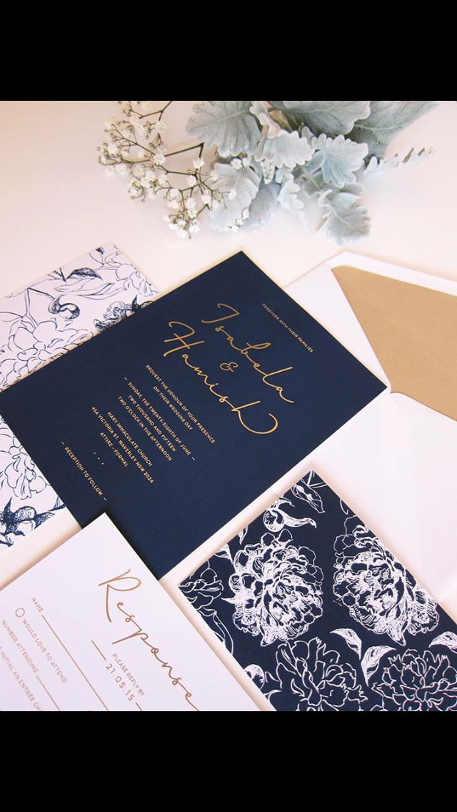not on the high street winter wedding invitations%0A Navy wedding invitations