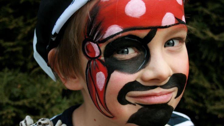 Pirate face painting tutorial - Pirate makeup