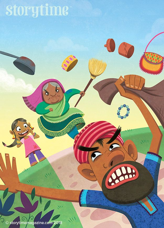 Our Indian fable in Storytime Issue 43 – The Golden Plate –is a lesson in greed. Art by Pamela Wehrhahne (https://www.behance.net/pamelawehrhahne) ~ STORYTIMEMAGAZINE.COM
