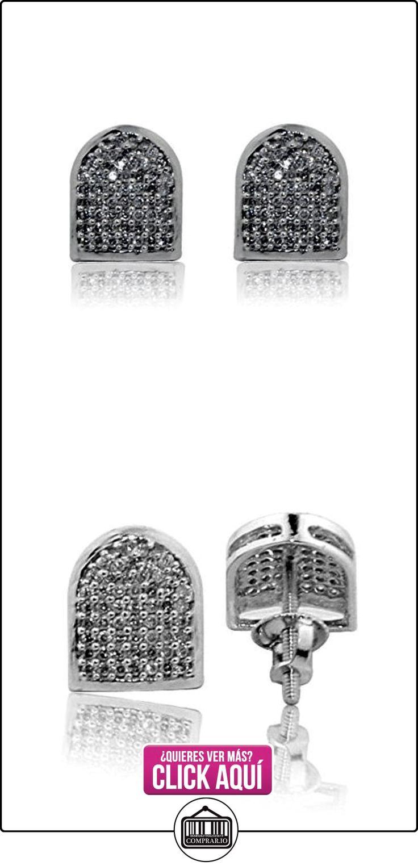 earrings-midwestjewellery Hombre Pendientes de diamante de oro blanco de 10K 1/3cttw Tornillo de 8mm de ancho diamantes redondos Pave Back (I2/i3, I/J)  ✿ Joyas para hombres especiales - lujo ✿ ▬► Ver oferta: https://comprar.io/goto/B01D7WM5PA