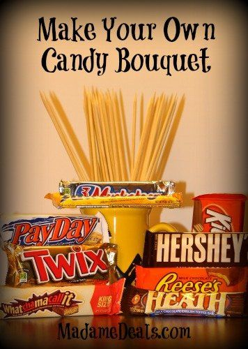 Fathers Day Gifts Idea: Make Your Own Candy Bouquets http://madamedeals.com/fathers-day-gifts-ideas-candy-bouquets/ #gifts #inspireothers