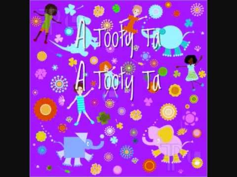 My niece does this in kindergarten! Love when she sings it!! Tootie Ta Brain Break, lyrics on screen  Good movement song!  For kindergarten and preschool set--teaches following directions, body parts, and listening, AND it's ridiculously cute when kids do it.  They love it!