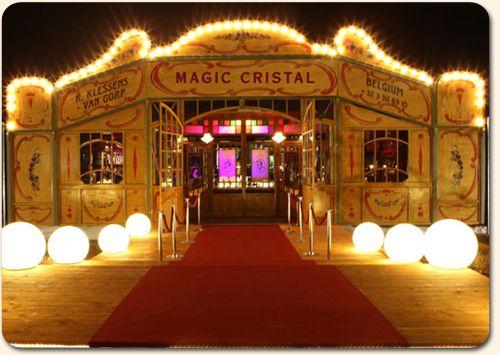 Spiegeltent Magic Cristal