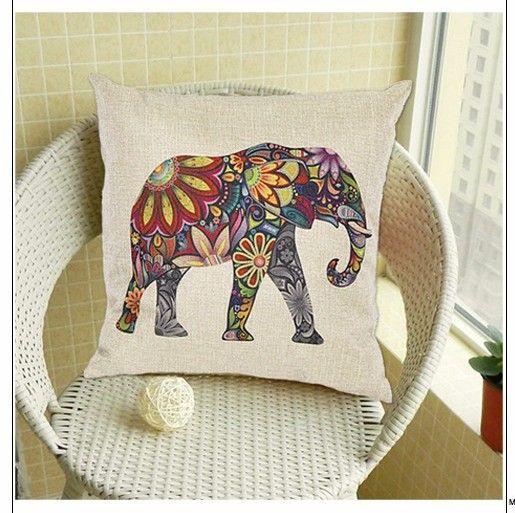 africanartonline.com - Elephant Linen Cushion Cover, $19.95 FREE Shipping (http://africanartonline.com/elephant-linen-cushion-cover/)