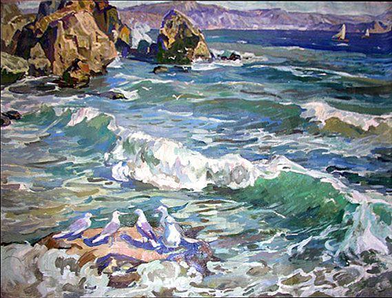 Seascape | Nostalgie :: art gallery of the socialist realism era