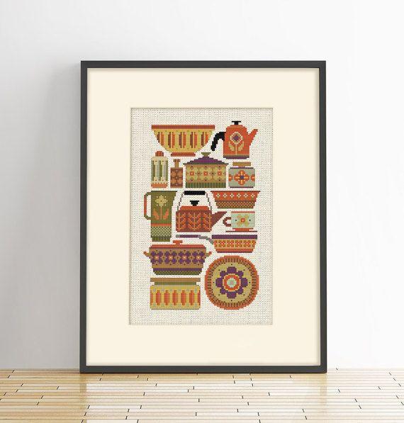 1000 ideas about cross stitch kitchen on pinterest for Cross stitch kitchen designs