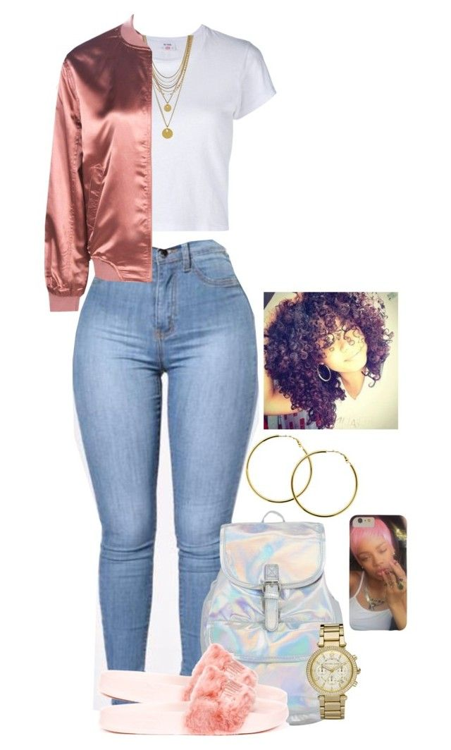 """Untitled #2084"" by basnightshine1015 ❤ liked on Polyvore featuring RE/DONE, Puma, Vince Camuto, Boohoo, Michael Kors and Melissa Odabash"