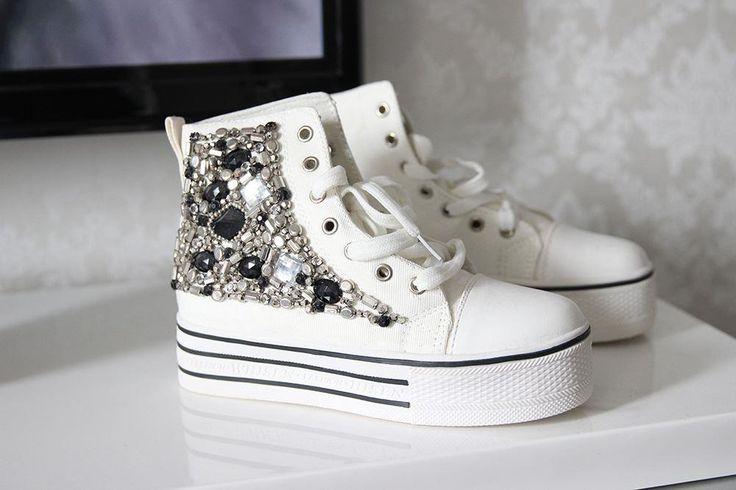 Vita, platå sneakers på Tradera.com - Sneakers & vardag - storlek