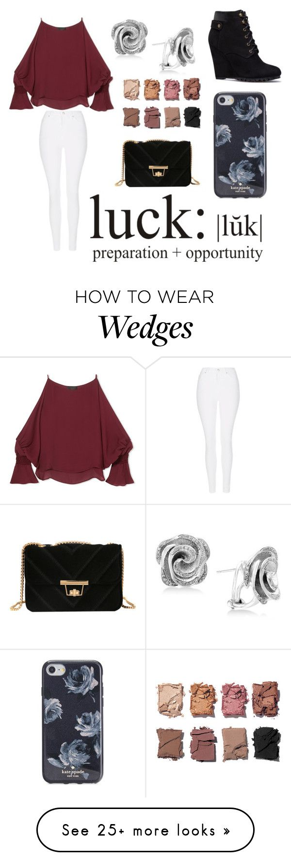 """It's Been A While..."" by judith-wanasida on Polyvore featuring Topshop, Nili Lotan, Effy Jewelry, WALL, Illamasqua and Kate Spade"