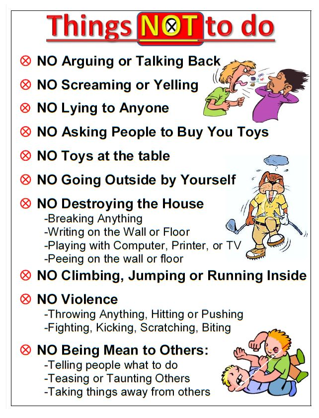 House Rules. A general list of rules for kids to follow at home.