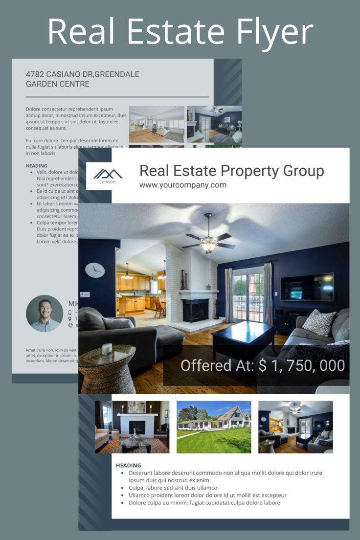 New Flyer Templates On Xara Cloud Create Stunning Flyers To Present Your Real Estate Listings Homeforsale Justlist Real Estate Real Estate Flyers Ad Design