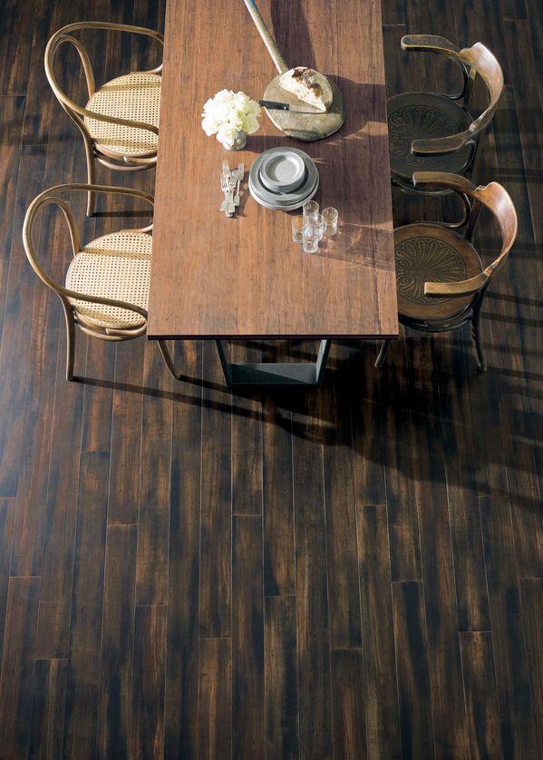 Dark Bamboo Floor | Remodelista