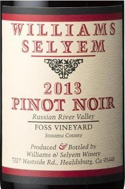 2013 Williams Selyem Pinot Noir Foss Vineyard