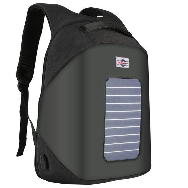 New 6.5W Solar Powered & Anti-Theft Backpack with Solar Panel Bottle Bag Men and Women Laptop Bag