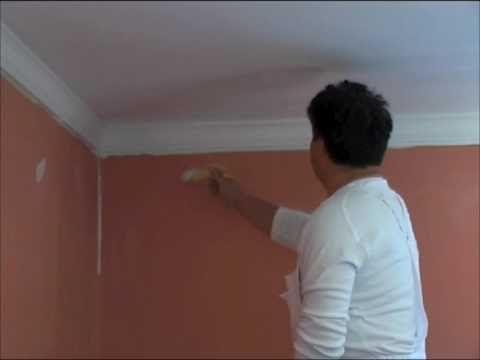 Szobafestő Attila: Beltéri falfestés - YouTube