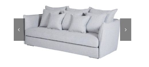 Urban Couture Lisa Grey Couch - Living Room
