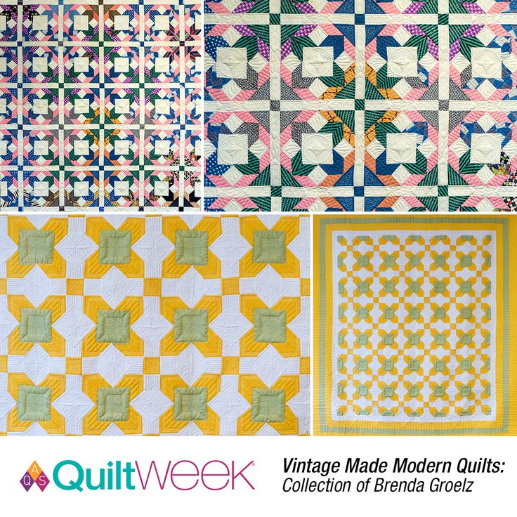 Vintage Made Modern Quilts:  Collection of Brenda Groetz exhibit at Fall Paducah QuiltWeek