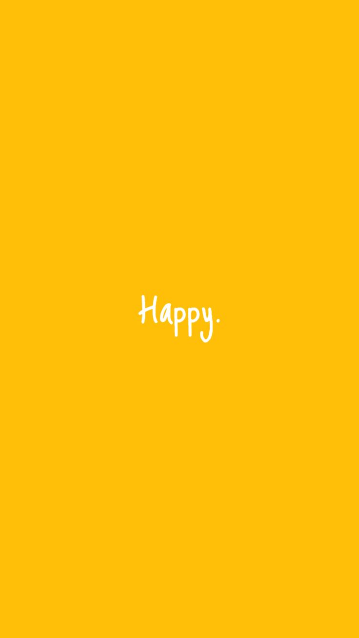 #happy #yellow #aesthetic | Yellow in 2018 | Pinterest | Board, Happiness and Wallpaper