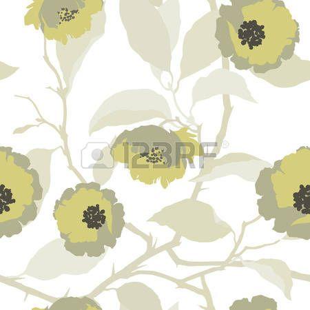 Цветочный: Элегантность Бесшовные картины с цветами роз, цветочные векторные иллюстрации в стиле винтаж