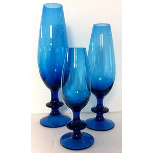 Carlo Moretti Goblet Collection now featured on Fab. Why does blue glass make me feel so calm and lush?