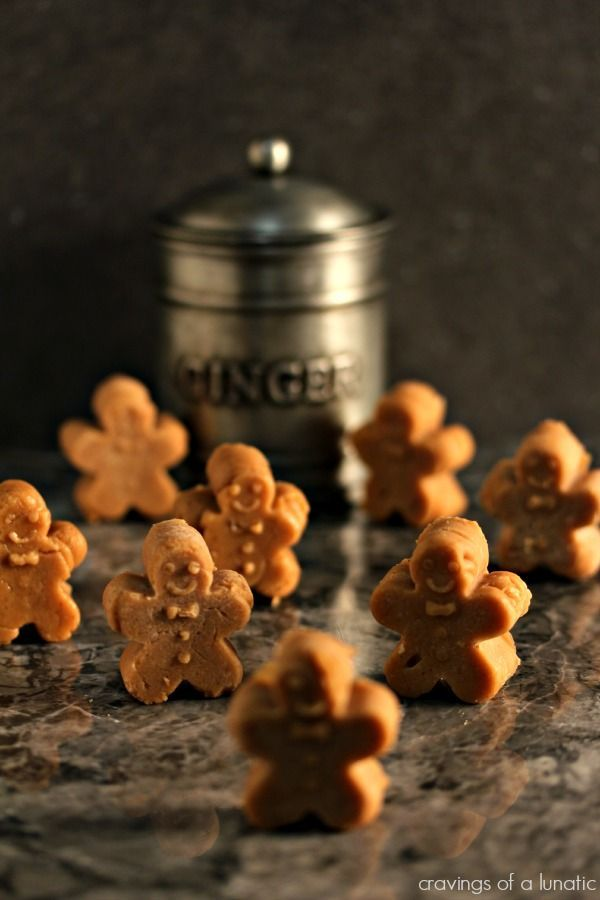 Mini Gingerbread Fudge | Amazing gingerbread fudge shaped like tiny gingerbread men. This fudge recipe has become my favourite of all time. It is bursting with flavour! @CravingsLunatic