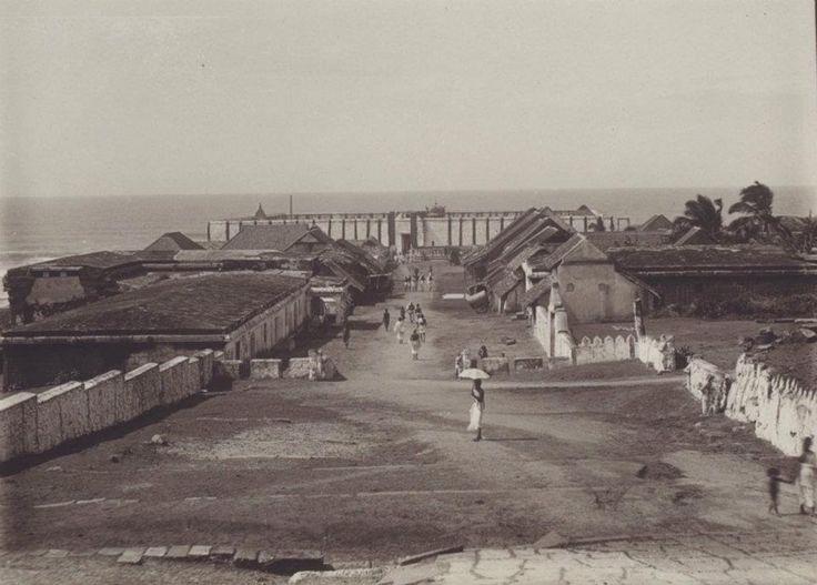 The Kanyakumari's View with Kumari Amman Temple in 1925 Madhurakkaran Karthikeyan