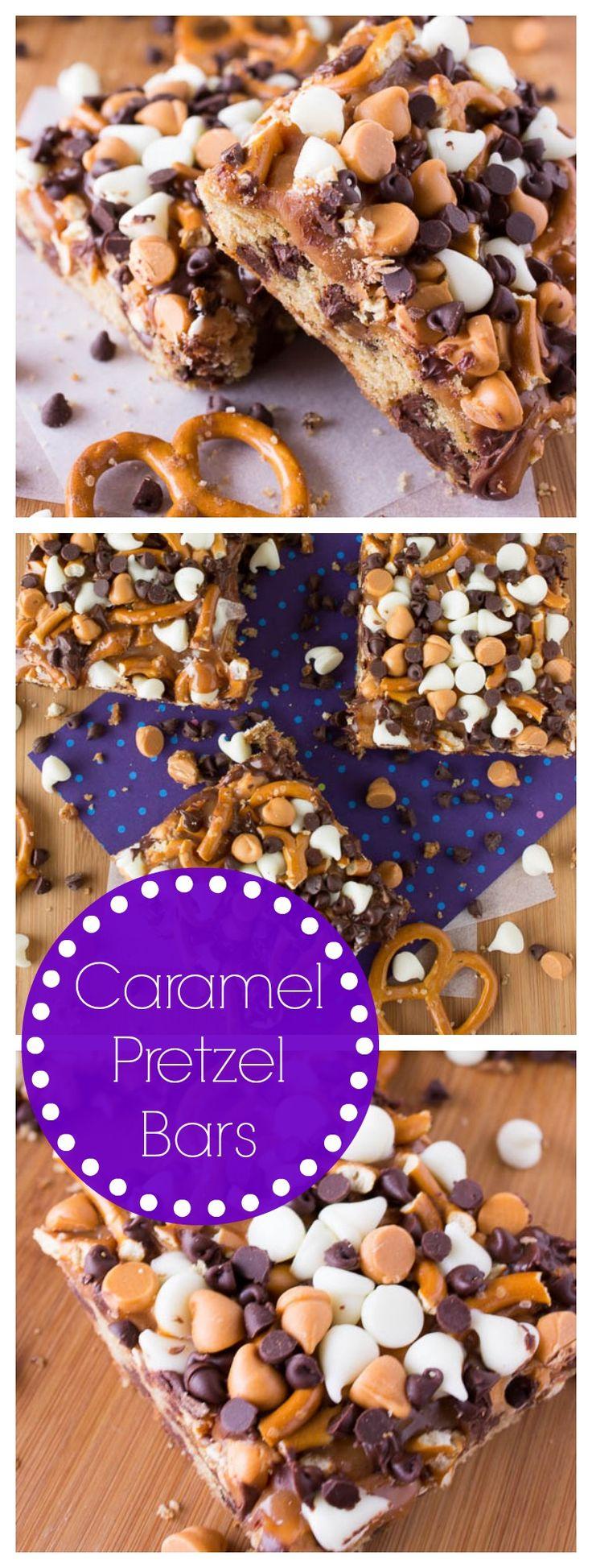 Caramel Pretzel Bars