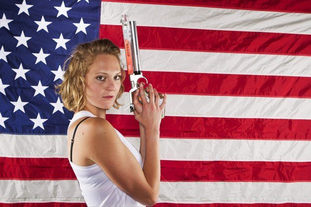 Modern pentathlon athlete Margaux Isaksen poses for a portrait during the 2012 U.S. Olympic Team Media Summit in Dallas May 15, 2012. REUTERS/ Lucas Jackson (UNITED STATES - Tags: Tags: #Sport #Olympics #Photography #London2012 #Portrait #Photography #Pentathlon)