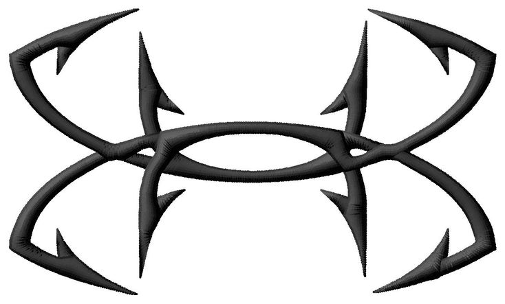 Under Armour Fish Hook Logo (5 sizes included!!): Single Designs - - Kewl Stitches