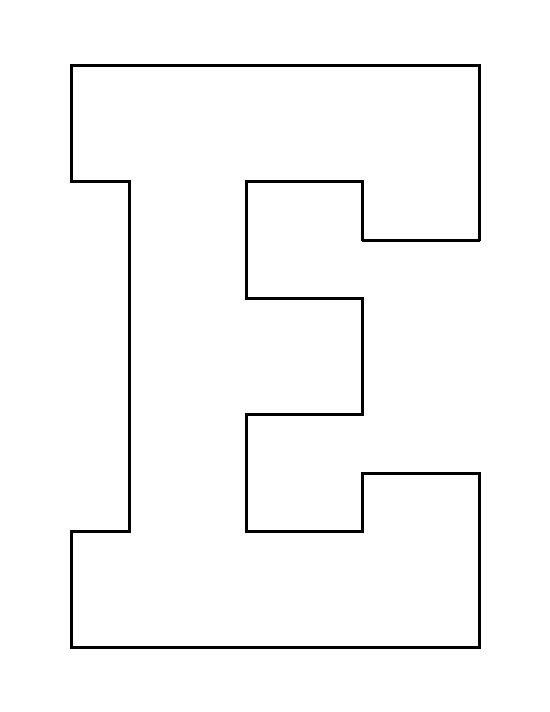 Letter E pattern Use the printable outline for crafts, creating
