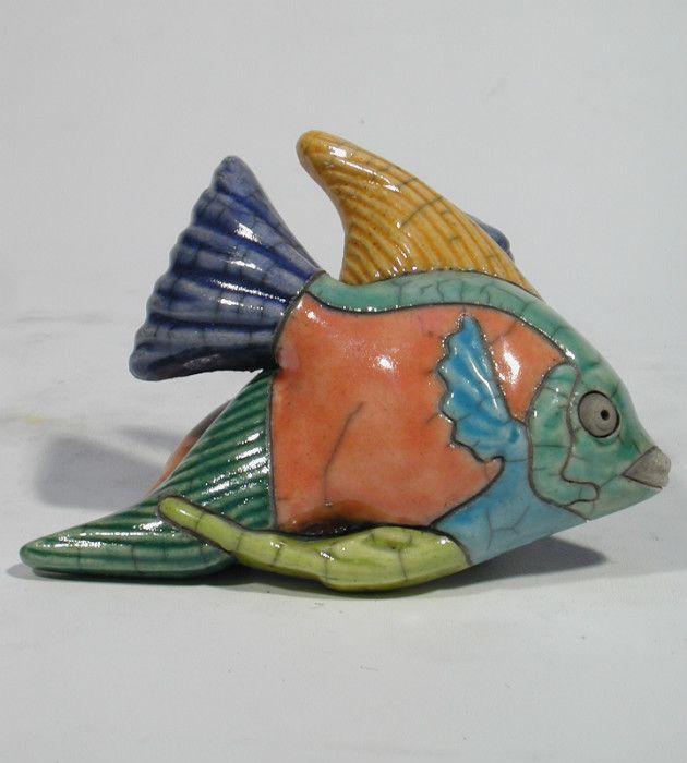 Kruger poisson ange couleur medium mural c ramique d 39 art for Art et decoration france