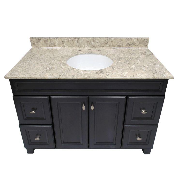 Us Marble River Bottom Cultured Veined Granite Vanity Top
