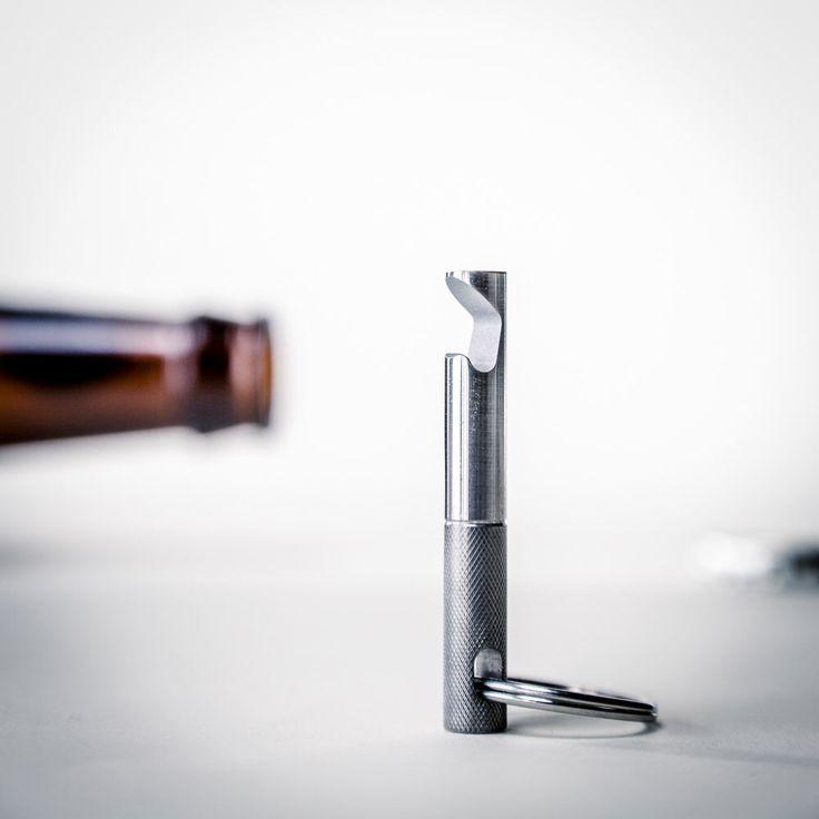EDC Keychain Bottle Opener - Stainless Steel Bottle Opener Keychain - Valentine's Day Gift by FutureRelic on Etsy https://www.etsy.com/listing/235397867/edc-keychain-bottle-opener-stainless