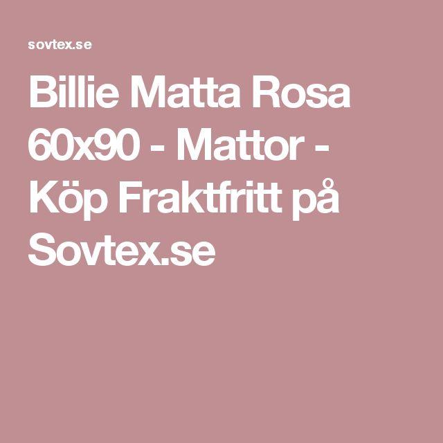 Billie Matta Rosa 60x90 - Mattor - Köp Fraktfritt på Sovtex.se