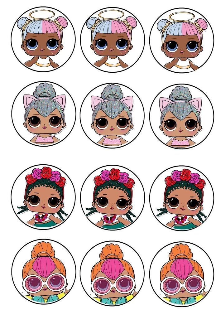 L O L Surprise Cupcake Toppers 2 Lol Dolls Birthday Surprise Party Doll Party