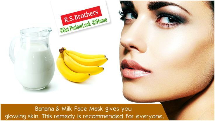 ##GetParlourLookAtHome Mix of #Banana and #Milk Apply it all over your face and neck and leave it for about 10 minutes and wash it off with water. This will help brighten the skin. As each of these substances absorb surplus oil, this remedy is recommended for anyone. (Image copyrights belong to their respective owners)
