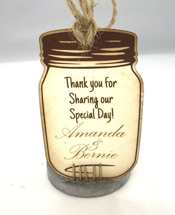 Wedding Favor Tags For Mason Jars : Favor Tags - 20 Mason Jar Wedding Favor Tags Rustic Wedding Inked Edg ...