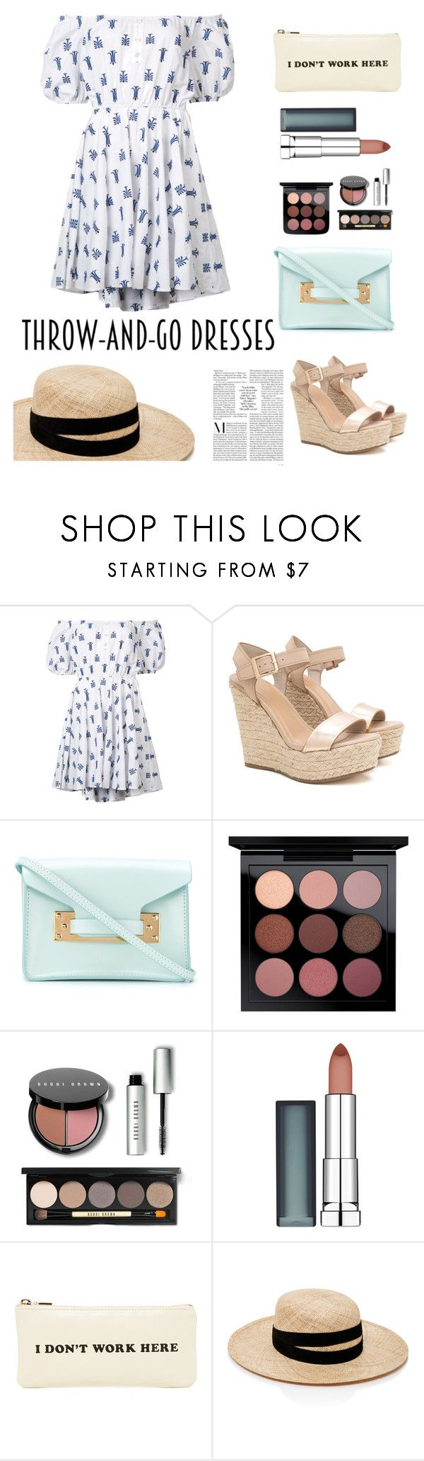 """""""Ready In 5"""" by wschurchill ❤ liked on Polyvore featuring Caroline Constas, Sophie Hulme, Bobbi Brown Cosmetics, Maybelline, ban.do and Janessa Leone"""