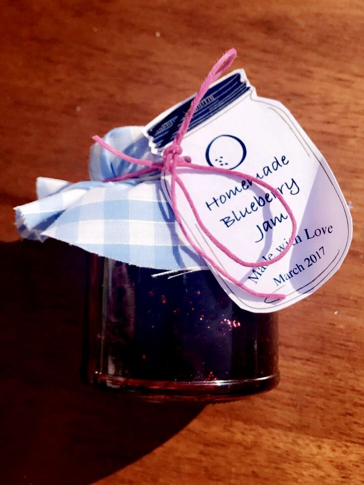 Home made blueberry jam