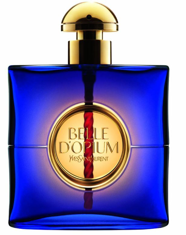 Belle du2019Opium by Yves Saint Laurent--Top notes: mandarin, Casablanca lily, gardenia, jasmine Heart: incense, peach, white pepper, tobacco, hookah accord, fruity notes Base: amber, sandalwood, patchouli, smoky notes