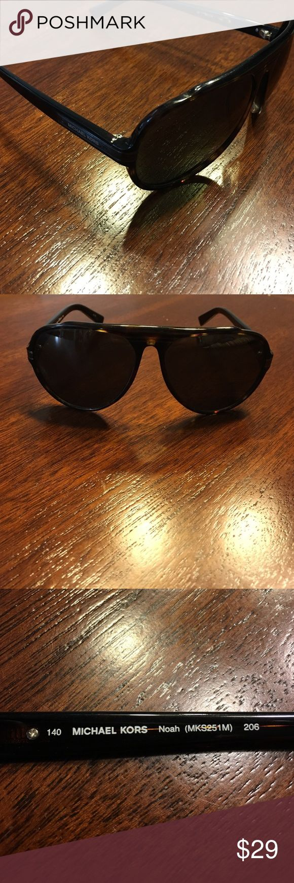 AUTHENTIC MICHAEL KORS Tortoise Sunglasses -Unisex These Michael Kors Sunglasses are a plastic aviator with etched detailing on the bridge. The Michael Kors logo is engraved on the temples. Unisex. Tortoise color. In superb shape with only minor scratches. No case is included, will package accordingly. *ANY REASONABLE OFFER CONSIDERED* Michael Kors Accessories Sunglasses